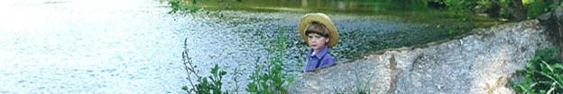 Amish Boy at Park Pond