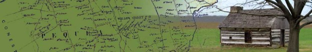 Pequea Area Map and Log Home